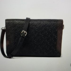 New French Connection Black Marin Messenger Bag